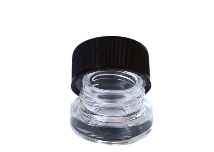 Durable Transparent Concentrated Container , 5ml Dab Glass Jar With Child Proof Lid